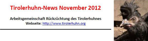Tirolerhuhn News 2012
